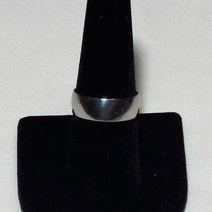 Silver Unisex Fashion Wedding Ring